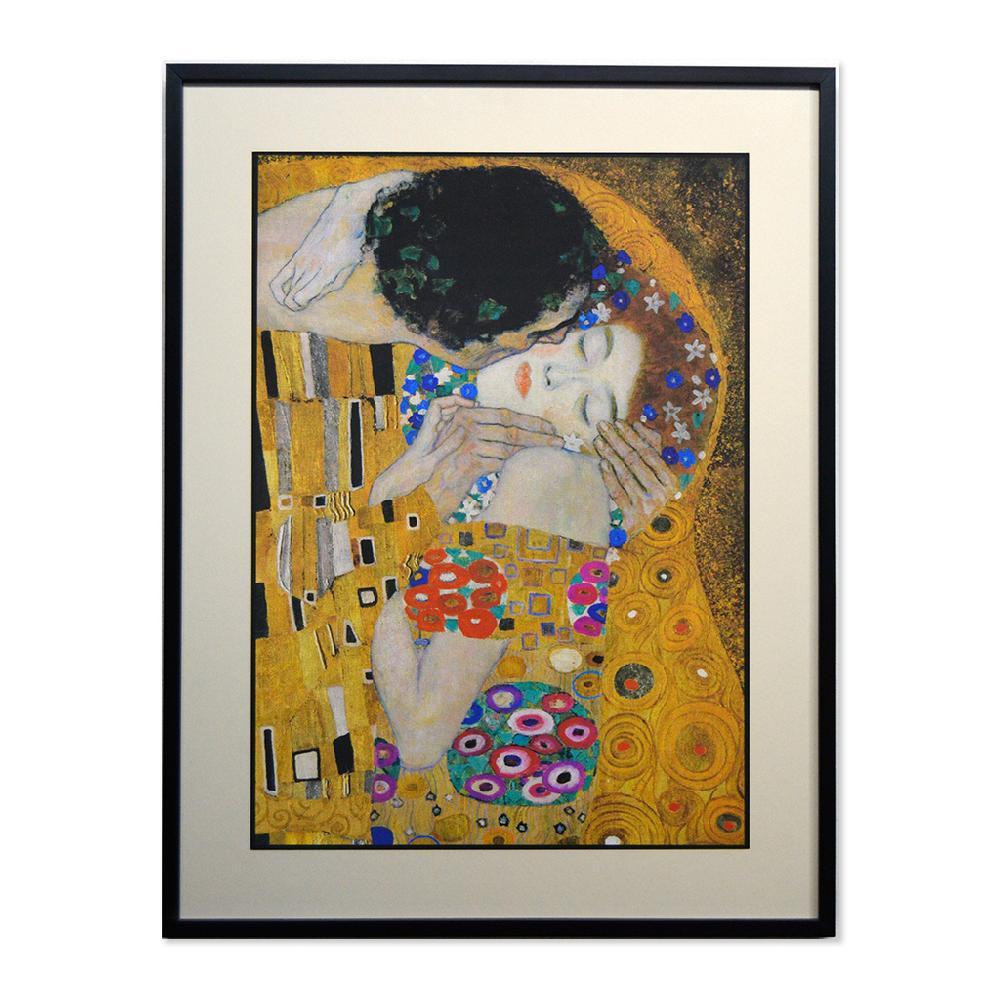 Cuadro El Beso (detalle rostros) Klimt