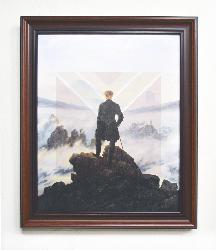 Cuadro El Caminante - Friedrich Enmarcado de laminas