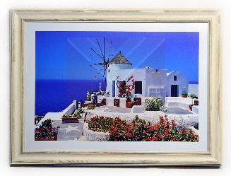 Cuadro paisaje Santorini Marcos y Cuadros