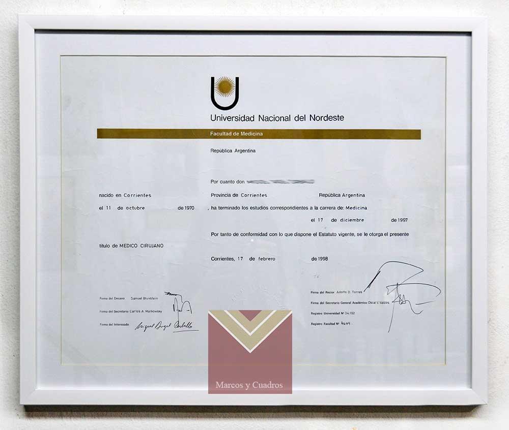 Marcos y Cuadros Taller de enmarcado 01) Diplomas - Certificados, 01 ...