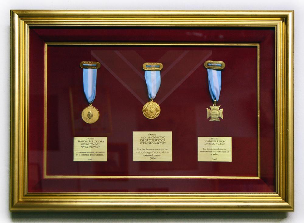 Enmarcado de medallas