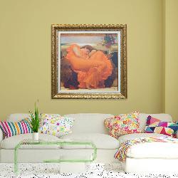 cuadro Flaming june Enmarcado de laminas