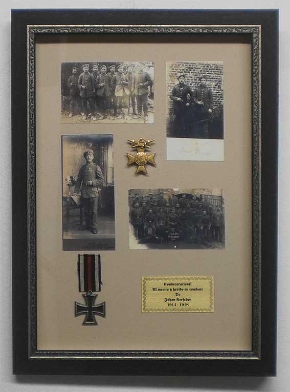 Marcos y cuadros taller de enmarcado enmarcado de medallas for Enmarcado de cuadros precios