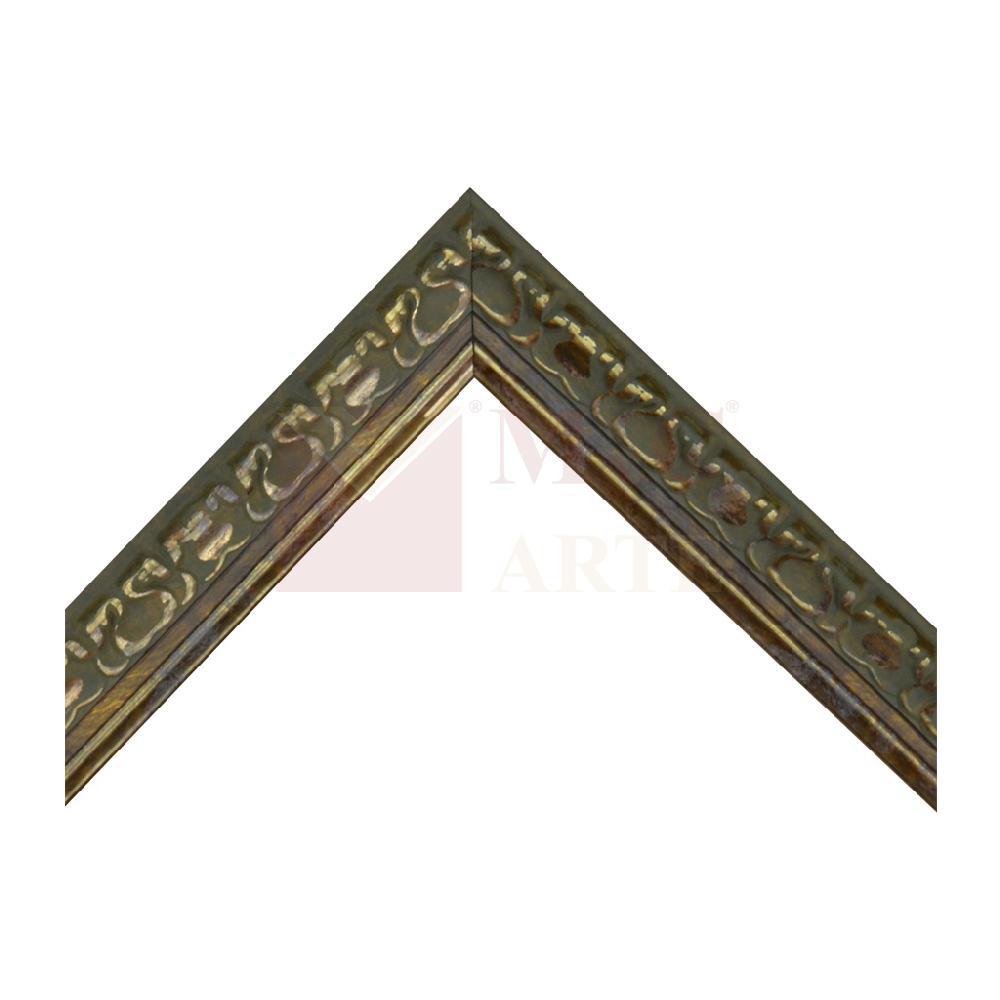 frisada 3 cm oro verdoso