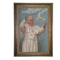 Enmarcado Tapiz Juan Pablo II Marcos y Cuadros