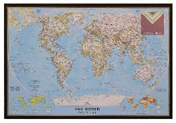 Cuadro mapamundi Enmarcado de cuadros