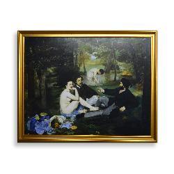 cuadro  El Almuerzo sobre la hierba,  Manet Edouard Marcos y Cuadros