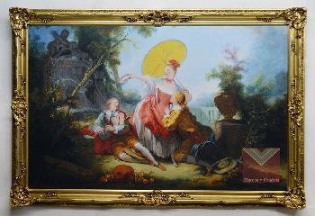 Marco Luis XV dorado a la hoja Enmarcado de cuadros