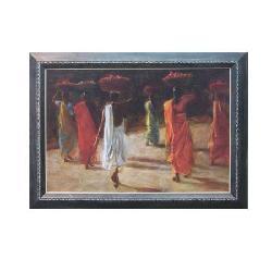 Enmarcado de Oleo Mujeres etnicas Enmarcado de laminas