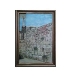 Enmarcado de Oleo del Muro de los lamentos Enmarcado de laminas