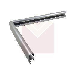 Aluminio 15 x 30 mm plata Marcos y Cuadros