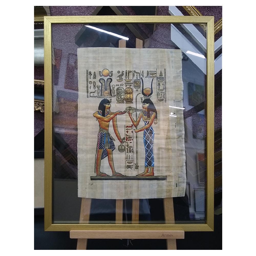 enmarcado papiro doble vidrio