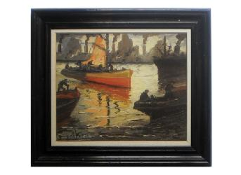 Cuadro - Barcas Iluminadas Enmarcado de laminas