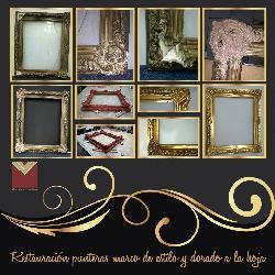 Restauracion marco y dorado a la hoja Enmarcado de laminas