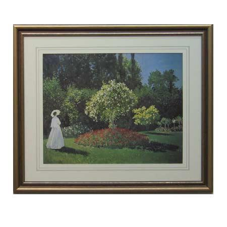 Cuadro  Signora in Giardino Monet