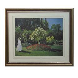 Cuadro  Signora in Giardino Monet Enmarcado de laminas