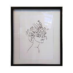 cuadro rostro con flores Enmarcado de laminas