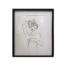cuadro silueta con flores Enmarcado de laminas