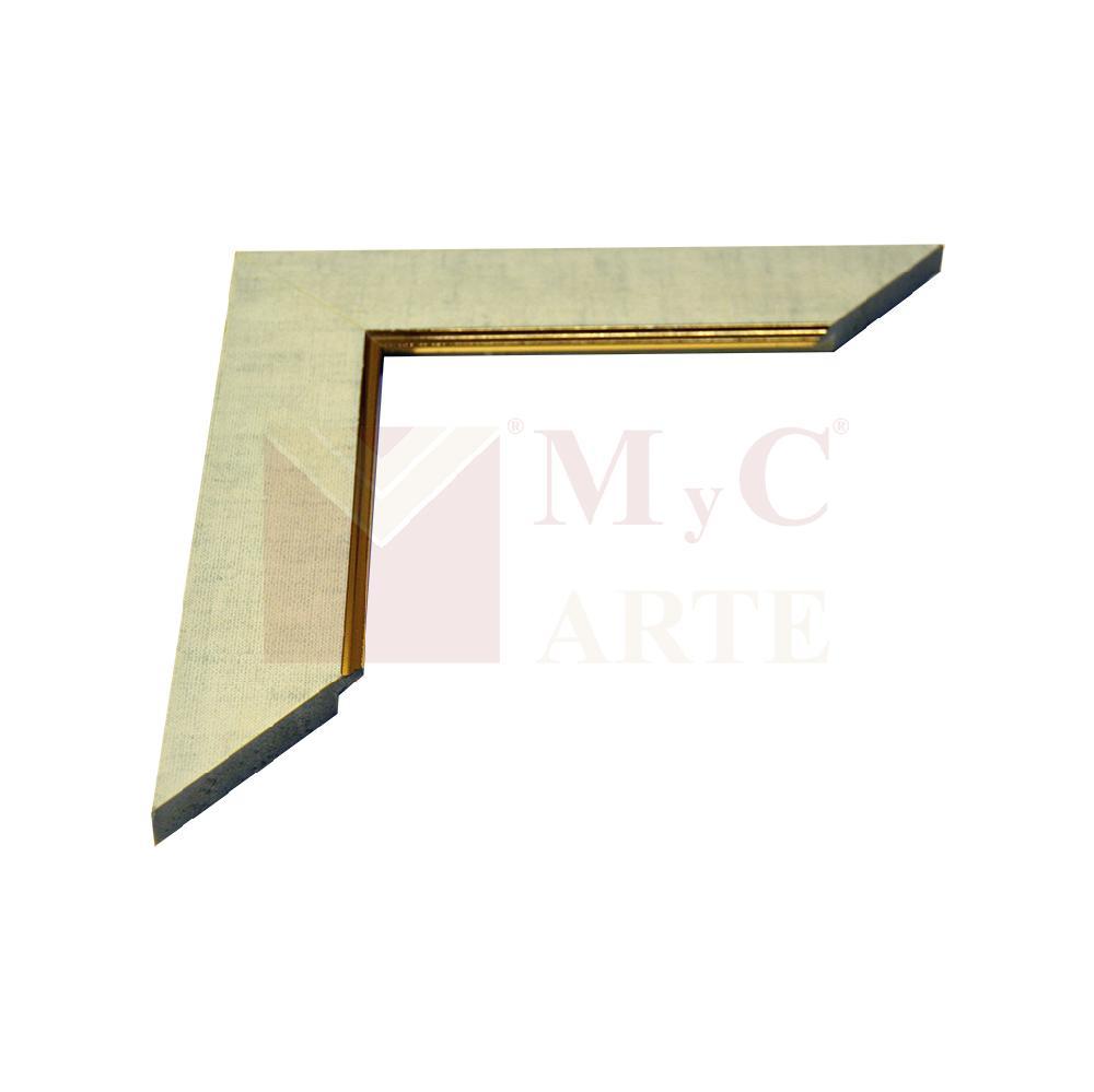 Simil tela 45MM con filete dorado