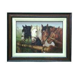 Enmarcado de lamina de caballos Enmarcado de laminas