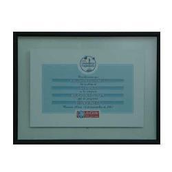 Enmarcado de certificado telefonica Marcos y Cuadros