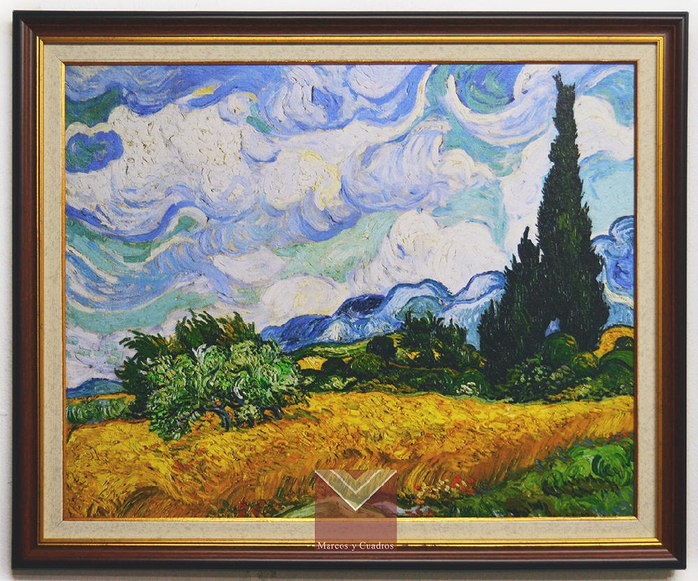 Enmarcado de laminas Cuadros , Cuadro Van Gogh, Campo de trigo con ...