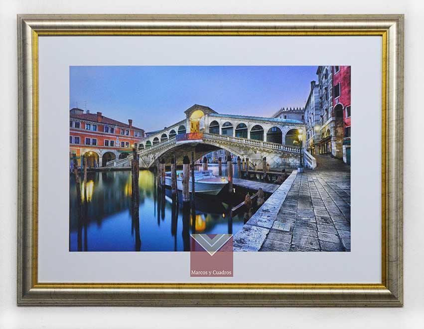 Enmarcado de laminas cuadros cuadro canal de venecia - Enmarcado de cuadros ...