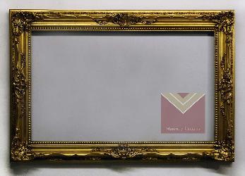 Marco LUIS XV dorado a la hoja Enmarcado de laminas